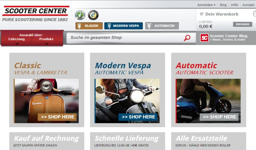 Scooter Center Gutschein